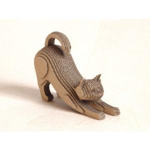 ペーパークラフト ダンボール  動物 猫 段々猫 stretch(送料¥300 小型便配送可)|dambool-crafts