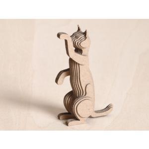 ペーパークラフト ダンボール  動物 猫 段々猫 tricky(送料¥300 小型便配送可)|dambool-crafts