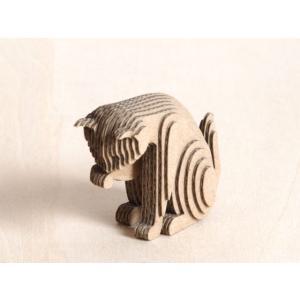 ペーパークラフト ダンボール  動物 猫 段々猫 washing(送料¥300 小型便配送可)|dambool-crafts