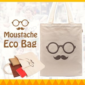 LODIS Moustache Eco Bag エコバック かわいい ECO BAG ローディス バッグ 大人 トートバック マザーズバッグ 通学 通勤|dami