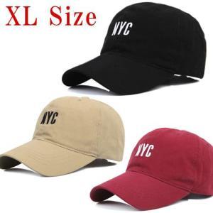 NYC ロゴ BIGサイズ ベースボールキャップ 大きいサイズ ビックサイズ 帽子 メンズ 大きい帽子 レディース ボールキャップ スナップバックキャップ メンズ dami
