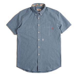 CRITIC STAG BEETLE HARF SHIRTS BLUE シンプルシャツ カジュアルシャツ ストリート系ファッション メンズ レディース ヒ|dami