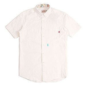CRITIC STAG BEETLE HARF SHIRTS WHITE シンプルシャツ カジュアルシャツ ストリート系ファッション メンズ レディース ヒ|dami