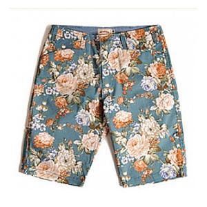 CRITIC Floral pattern shorts blue 花柄ショートパンツ アメカジショートパンツ 花柄パンツ ストリートファッション系 レ|dami