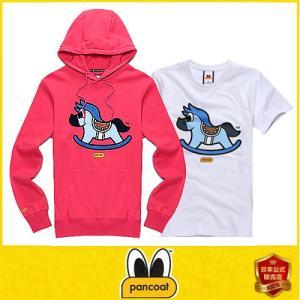 限定商品 POPHORSE LIMITED HOODY A-1 FP HOT CORAL PINK フードt+tシャツセット トレーナーフードT アヒル フー パンコート|dami