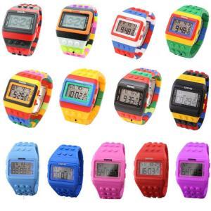 NEW カラー入荷 カラフル ウォッチ 腕時計 LED ユニセックス メンズ レディース 20色 スポーツ キッズ用にもおすすめ dami