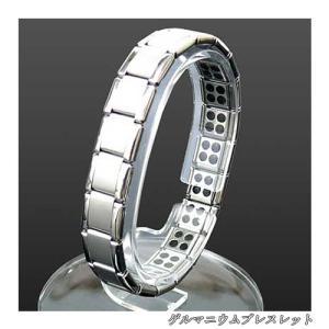 磁気80石 ナノエナジー チタン ゲルマニウム ブレスレット シルバー ケース付き 磁気アクセサリー 健康アクセサリー ステンレスブレス ブレス メンズ レディース|dami