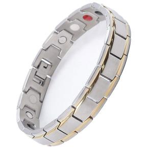 ゲルマニウム メンズ レディース ジュエリー 磁石 ステンレス ブレスレット 磁気アクセサリー 健康  おしゃれ カジュアル スポーティ プレゼント ギフト|dami