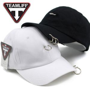 30b97048a4c TEAMLIFE 3連 リング付き キャップ キャップ ベースボールキャップ レディース 帽子 メン.