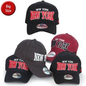 XL NewYork メンズ キャップ 大きい 大きい帽子 ビックサイズ ロゴ ベースボールキャップ レディース ローキャップ 男女兼用 dami