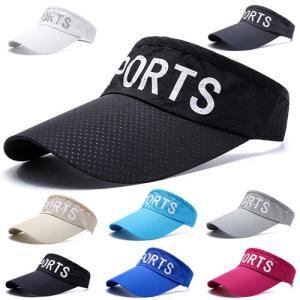 ゴルフキャップ スポーツバイザー メッシュ 日よけ ジョギング キャップ アウトドア サンバイザー 帽子 通気性 メンズ レディース dami