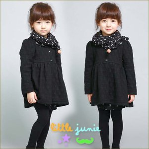 Stars Scarf Long Jacket 韓国子供服 女の子 ジャケット フォーマル かわいい キッズ 女の子長袖 トップス dami