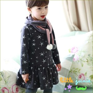 Dress 韓国子供服 ワンピース 長袖 子供服 ワンピース 秋冬 カジュアル フォーマル かわいい キッズ dami