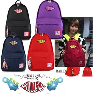 ROLLIPS POPPIN BASIC BACKPACK 選べる色4展開 バッグパック ツーカラーバッグ カラフルリュック デイパック カバン リュ dami