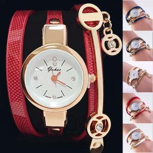 3重巻きベルト レディース ブレスレッド腕時計 アナログ ウォッチ ケース付き レディース 腕時計 おしゃれ 女性 アナログ レディース腕時計 ブレスレッド レザー|dami