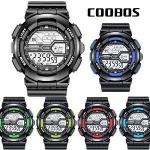 COOBOS デジタル 腕時計 ブランド LED ディスプレイ 30M 防水 ランニングウォッチ スポーツウォッチ メンズ dami