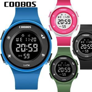 COOBOS デジタル メンズ 腕時計 ブランド LED ディスプレイ 30M 防水 ランニングウォッチ スポーツウォッチ dami