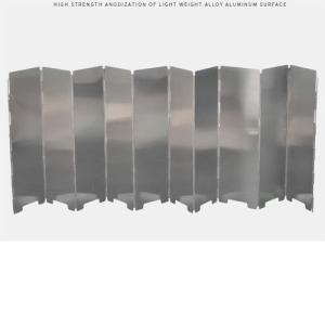 風除板 ウィンドスクリーン 風防 風除け キャンプ アウトドア コンパクト プレート10枚 焚き火 バーベキュー コンロ バーナー dami
