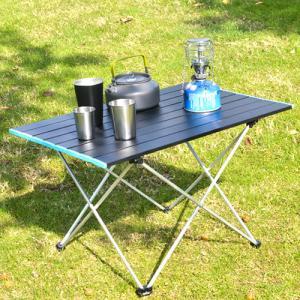 Lサイズ ローテーブル 折りたたみ テーブル アウトドア アルミ製 子供 ピクニック 折り畳み 防災 快適 コンパクト キャンプ レジャーテーブル 収納袋付き dami