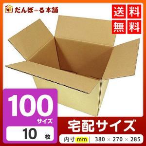 ダンボール 100サイズ 無地 10枚セット 段ボール箱 タチバナ産業 梱包箱 引っ越し
