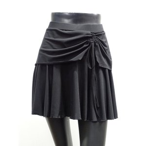 ミニスカート (M・L) No.007-0005 Roger <br>社交ダンス レッスン パンツの 上に 重ねて 使う オーバー スカート 黒 スピンドル dance-grace-nagano