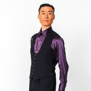 U字シングルベスト (S〜4L) T2036 東京トリキン 社交ダンス メンズ衣装|dance-grace-nagano