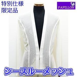 メンズラテンシャツジャケット(M) 特別仕様 ネットタイプ ホワイト No.4606M パピヨン|dance-grace-nagano