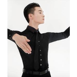 ストレッチ ワイシャツ(黒)ADS ダンス用 GRACE dance-grace-nagano