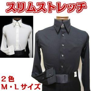 パーティーシャツ(M/L)tt5075 白 黒 東京トリキン 速乾ストレッチ ジャストフィットタイプ  dance-grace-nagano