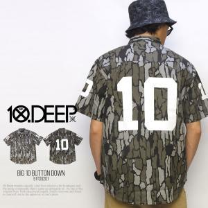 10DEEP テンディープ ビッグナンバリングワークシャツ ...