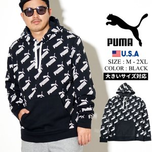 PUMA (プーマ) プルオーバーパーカー メンズ スウェット 裏起毛 USAモデル アンプリファイ...