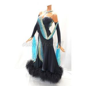 社交ダンス・ダンス衣装 インポート品   M600 ブラック SMサイズ dancedress-jj