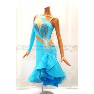 社交ダンス・ダンス衣装 インポート品 ヨーロッパ製 L385 バルバドス MLサイズ|dancedress-jj