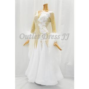 社交ダンス・ダンス衣装 インポート品 ヨーロッパ製 M610 ホワイト羽 dancedress-jj