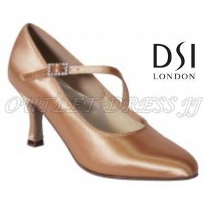 【取り寄せ】DSIレディーススタンダードストラップ付 210 Paris フレアヒール  フレッシュ 5cmH/7cmH|dancedress-jj