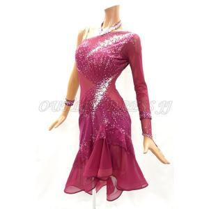 社交ダンス・ダンス衣装 インポート品 ヨーロッパ製 L403 ルビン Mサイズ|dancedress-jj