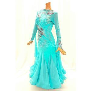 社交ダンス・ダンス衣装 インポート品 ヨーロッパ製 一点物 M632 ピンクパープル Mサイズ dancedress-jj