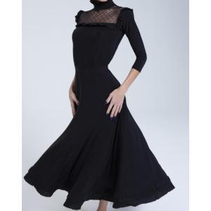 社交ダンス・ダンス衣装 ヨーロッパ製 DRESS RETRY ドレス リトリー ワンピース  ブラック S or Mサイズ 定価:44,000円 dancedress-jj