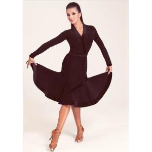 社交ダンス・ダンス衣装  ヨーロッパ製 DRESS MODESTE ドレスモデスト ラテンワンピース ブラック S or M 定価:33,000円 dancedress-jj