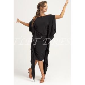 社交ダンス・ダンス衣装 ヨーロッパ製 DRESS REPLIER ドレスリプライアー ラテンワンピース ブラック S or M 定価:27,500円 dancedress-jj