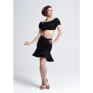 社交ダンス・ダンス衣装 ヨーロッパ製 スカート Coquette ブラック S,Mサイズ 定価: 22,000円(税込) dancedress-jj