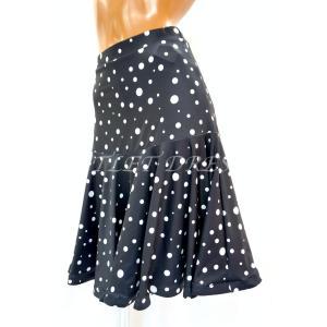 社交ダンス・ダンス衣装 ミディアムフレアスカート ドット柄  定価: 9,350円(税込)|dancedress-jj