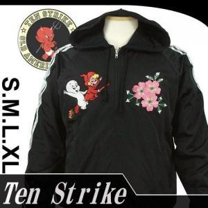TENSTRIKE ASW-111 キャスパー・ウィンディ刺繍ジップパーカ dandara