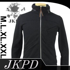 Junky's Paradise JSW-401 刺繍裏毛フードインネックパーカー|dandara