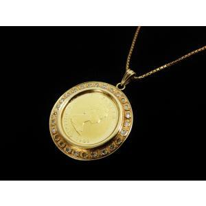 コインネックレス 純金 エリザベスメイプルリーフ金貨 K24...