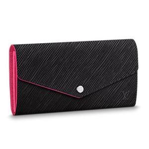 b04c625b6eaf ルイヴィトン長財布 新品新作 ポルトフォイユサラ 黒 ピンク エピ LOUIS VUITTON レディース財布 かぶせ 正規ラッピング M64322