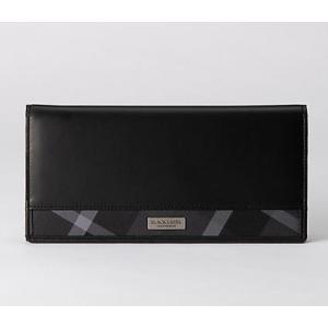 03696878345f ブラックレーベルクレストブリッジ財布 新作新品 小マス型押しロングウォレット長財布 BLACK ...