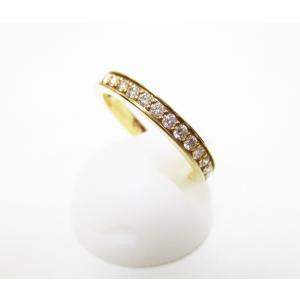 timeless design 8d497 a890b カルティエ ハーフエタニティリング Cartier 指輪 ダイヤモンド 9号 K18 750YG サイズ49