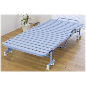 ポリプロピレン抗菌樹脂製スノコ折りたたみベッド
