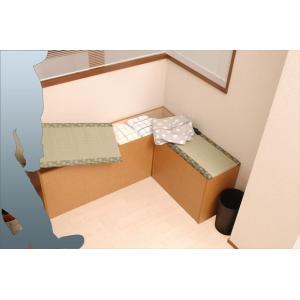 畳 ベンチ スツール 玄関 窓下 収納ボックス 国産  120cm幅 ブラウン色|danksy|03